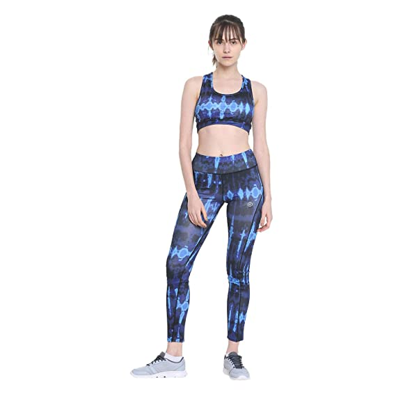 dc0de9058a37b CHKOKKO Sports Bra and Yoga Pant Gym Wear Fitness Training Set for Women  Blue S