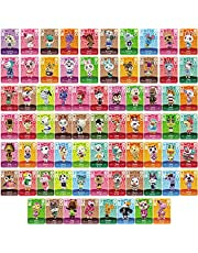 Botw NFC Tag Game Cards for Animal Crossing New Horizons Switch/Switch Lite/Wii U, 72pcs Mini Cards with Crystal Case