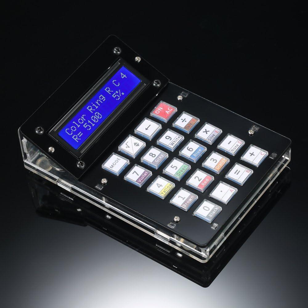 Wunes - DIY電卓カウンターキット電卓DIYキットLCD多目的アクリルケース付き電卓電子コンピューティング