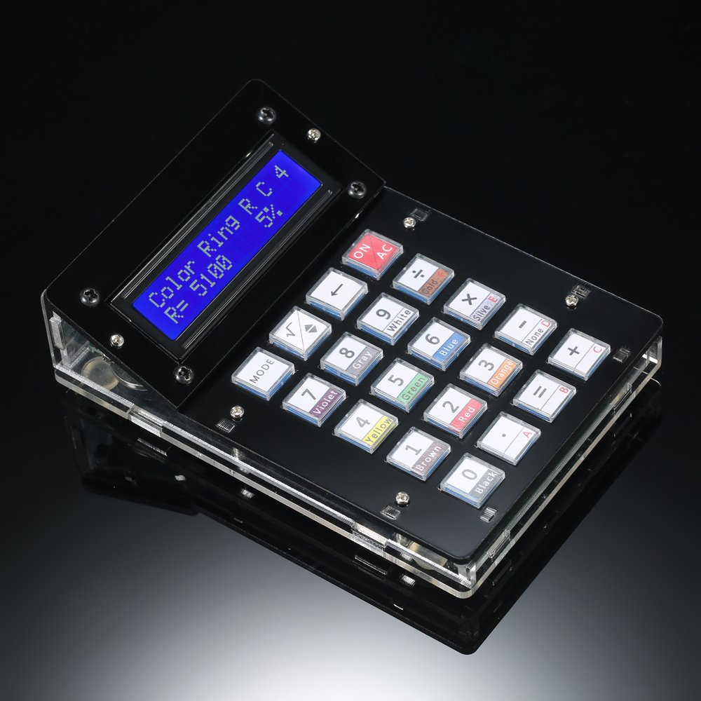Wunes - DIY電卓カウンターキット電卓DIYキットLCD多目的アクリルケース付き電卓電子コンピューティング B07CN5KRNC