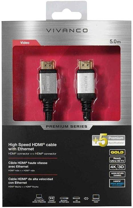 Vivanco 42203 Hdmi Kabel 5 M Hdmi Typ A Schwarz Hdmi Elektronik