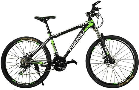 Bicicleta de montaña MTB 27 velocidades 26 Pulgadas Rueda Hardtail Bicicleta, Verde: Amazon.es: Deportes y aire libre