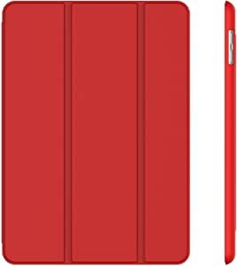 RDX Case For Apple iPad (9.7-Inch, 2018/2017 Model), Smart Cover Auto Wake/Sleep, Red