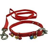 Sollar's Puppy Dog Collar Belt and Leash, X-Small, Red
