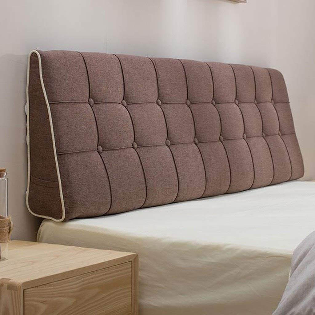 Sofa Bed Large Upholstered Headboard Filled Triangular Wedge Cushion Bed Backrest Positioning Support Pillow Reading Pillow Office Lumbar Pad with Removable Cover (Color : A, Size : 18050cm) by VVpillow
