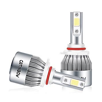 Catinbow 2pcs LED Bombillas Para Faros Delanteros Kit, 72W 7200LM de Auto Faro 6000K Alta