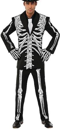 88a37cbd7bb9 Amazon.com: Pizazz! Men's Adult Mr. Bones Costume, Black/White ...