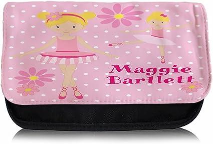 Personalizado Bailarina Danza EC003 estuche escolar/Neceser de maquillaje/Consola de juegos ds Carrier: Amazon.es: Oficina y papelería