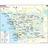 Greater SAN DIEGO Detailed Wall Map w/Zip Codes *Laminated* 36\