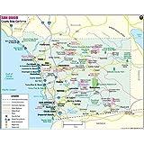 "San Diego County Map - laminated (36"" W x 28.72"" H)"