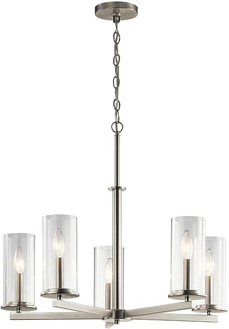 Amazon.com: Kichler 43999 ni Cinco Luz Lámpara de araña ...