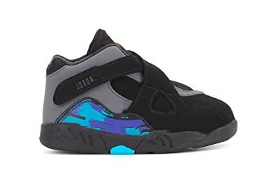 Image Unavailable. Image not available for. Color  Air Jordan 8 Retro Aqua  Toddler Basketball Shoes ... 20d79d830