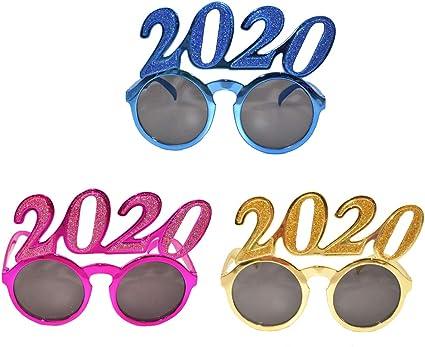Amazon.com: Amosfun - 3 gafas de sol para fiesta 2020, gafas ...