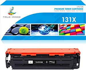 True Image Compatible Toner Cartridge Replacement for HP 131X CF210X 131A CF210A Laserjet Pro 200 Color M251nw MFP M276nw M251n M251 M276n M276 Canon MF8280Cw (Black, 1-Pack)