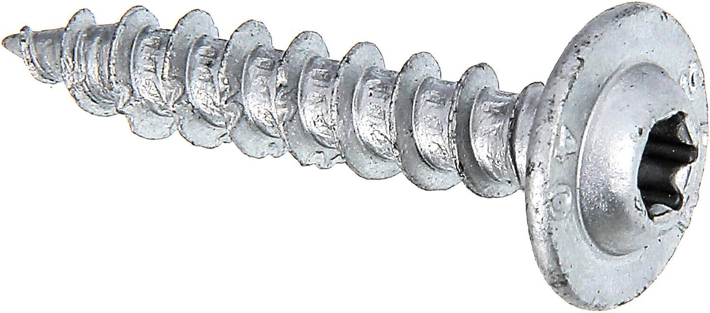 40 mm Speed Ruspert Wood Screws Silver Bumper Pack of 50 /Ø7