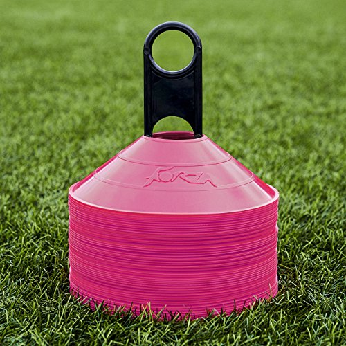 (Net World 50 Forza Marker Cones & Stand Available Sports (Pink))