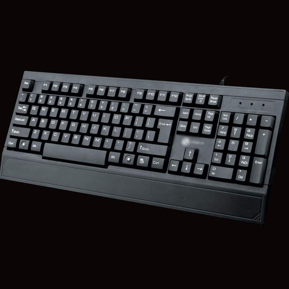 USB Cable Business Office Desktop Computer Keyboard Android Tv Box Color : Black Jiabei Keyboard