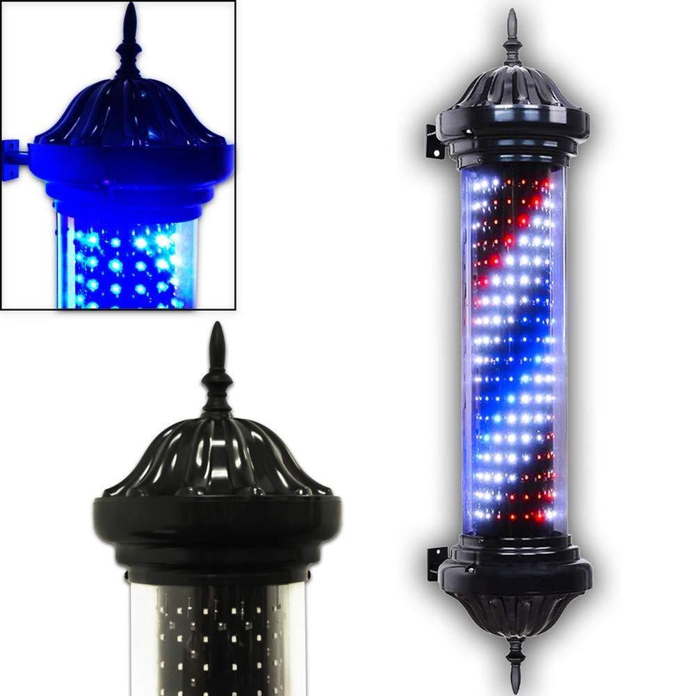 LEDバーバーポール、赤、白、青回転&ライトストライプ防水ヘアサロン理髪サイン壁掛けランプ B07SLNK275
