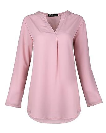 SUNNOW Femme T-Shirt Manche Tunique Lâche Blouse Femme Et Top Chic en  Mousseline de 248128d300b5
