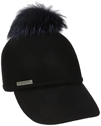 kangol fur baseball hat furgora cap women felt removable dyed pom black mink