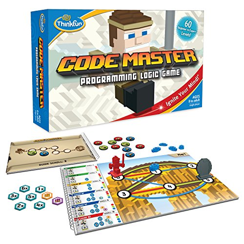 ThinkFun Code Master Programming Logic Game and STEM Toy for Boys and Girls Age 8 and Up - Teaches Programming Skills Through Fun Gameplay (Gift For 7 Year Old Boy 2015)