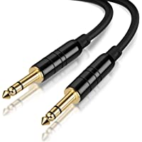 "CableCreation 10 Feet 6.35mm 1/4"" TRS to 6.35mm 1/4"" TRS Balanced Stereo Audio Cable, Male to Male, 3 Meters/Black"