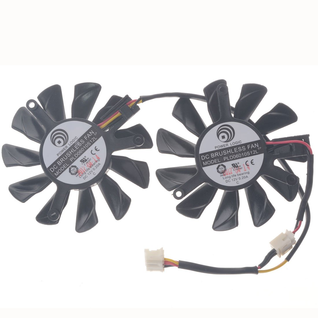 Allpartz PLD06010S12L 55mm DC 12V 0.2A 40mm 4Pin Graphics Video Card Cooling Dual Fan