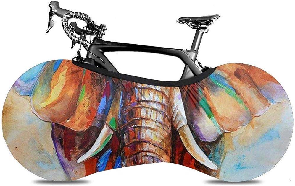 Cubierta De Bicicleta,Colorido Elefante Pintura Bicicleta Cubierta ...