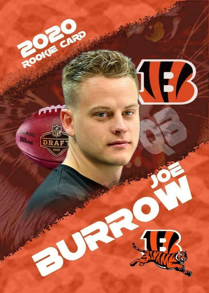 JOE BURROW 2020 ROOKIE GEMS #1 DRAFT PICK ROOKIE CARD BENGALS