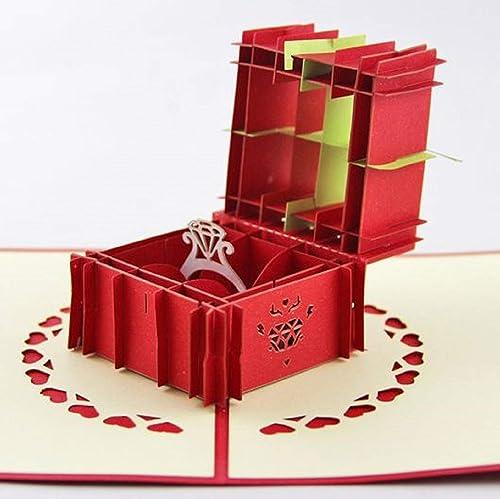BC Worldwide Ltd hecho a mano 3D tarjeta pop-up anillo de ...