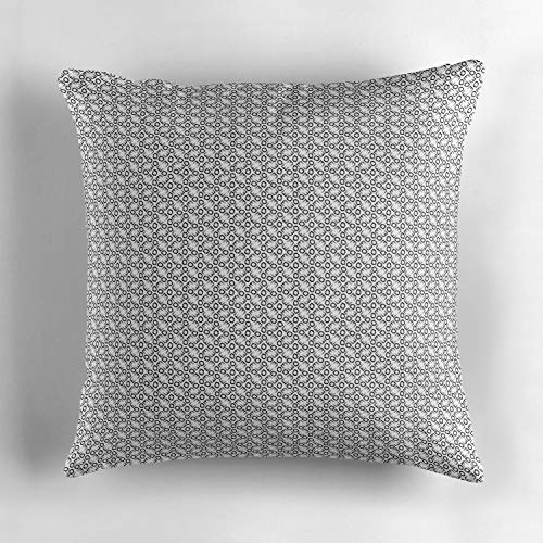 (Jidmerrnm Alphabet Soup Patterns Black amp White Throw Pillow Cushion Cover, Decorative Square Accent Pillow Case, 18 X 18 inches,)