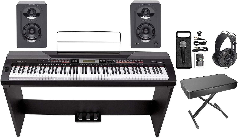 MEDELI SP4200 Piano de escenario de 88 teclas + soporte + ...