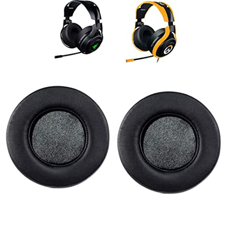 Replacement Memory Foam Earpads Ear Pads Cushion Cups Pillow Cover Repair  Parts Compatible with Razer Man'OWar 7 1 Wireless/Wired Surround Sound &