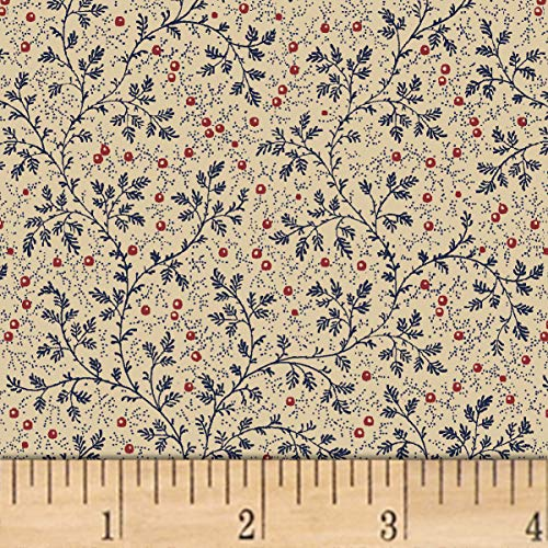 Windham Fabrics Berry Vine 108'' Wide Back Fabric, Navy, Fabric By The Yard