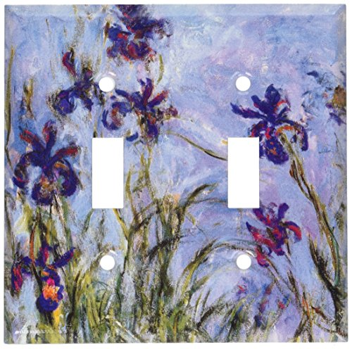 Art Plates - Monet: Irises Switch Plate - Double Toggle ()