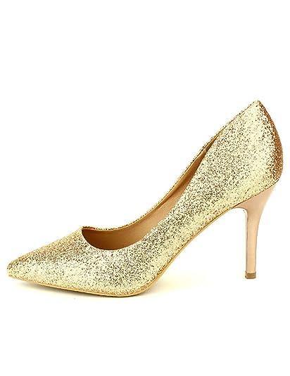 Cendriyon Escarpins Dore Paillettes Cinks Chaussures Femme Taille