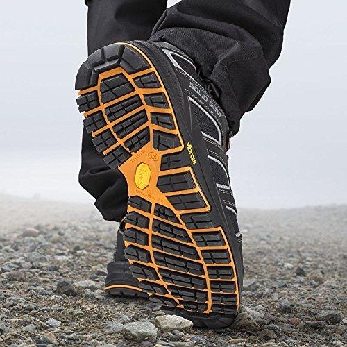 Solid Gear SG7300244 Falcon Chaussures de sécurité S3 Taille 44 Noir/Orange