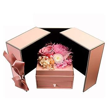 Amazon.com: Caja de regalo con diseño de flor de amor de la ...