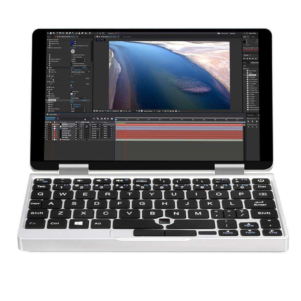 Sonmer ONE-NETBOOK One Mix 2 7'' 2-in-1 Tablet, 2.6GHz Quad Core Laptop Computer with Touchscreen and Detachable Keyboard,8GB RAM 256G PCI-E SSD,Fingerprint Recognition,Dual Band WiFi (Without Stylus) by Sonmer (Image #1)