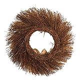 Yezijin Christmas Wreaths, 45cm Grain Harvest Rattan Ring Door Wreath Door Wall Decoration Thanksgiving Day