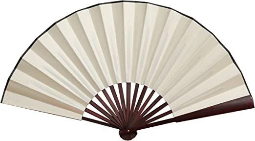 Amazon Com Folding Fan China Fan Hand Fans With Traditional Chinese Arts Cream 13inch Kitchen Dining
