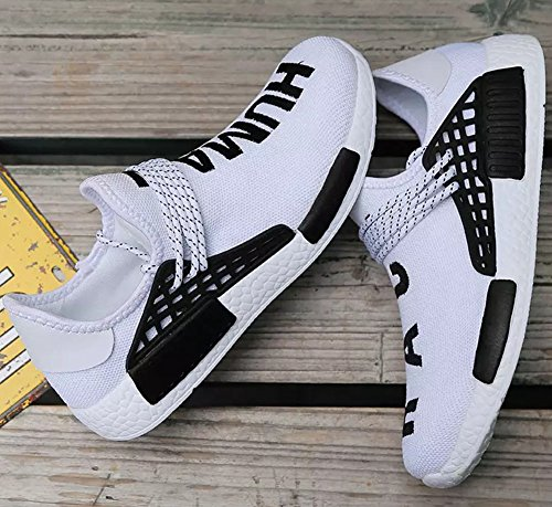 47 Scarpe Uomo Bianco delle Senza wealsex Scarpe Sportive 39 Banda Casual Lacci Elastica Sneaker Scarpe OwwaYZ