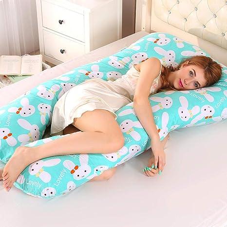 Almohada de Mujer Embarazada, cojín Lateral, Soporte Lumbar ...
