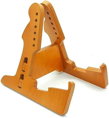 Guitar Stand Wooden Ukulele Instrument Stand Portable Guitar Holder for Acoustic Classical Guitar Ukulele