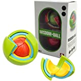 FUNTOK 3D DIY Puzzle Wisdom Ball 21 PCS 4 Different Colors Plastic Geometric Shapes Thinking Ability Puzzle Ball Jigsaw