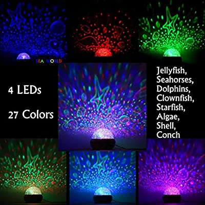 Colorful Undersea World, McWorks Baby Projector Rotating Night Lights, Best For Kid's Gift To Stimulate Curiosity and Imagination