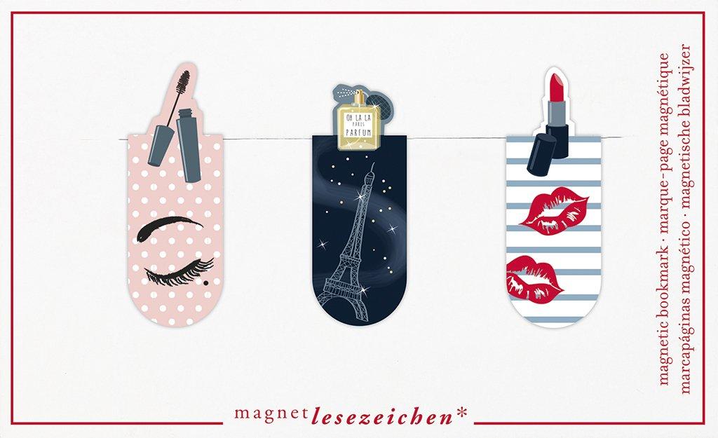 magnetisches Lesezeichen 31122 Magnetlesezeichen Musik 3er Set moses charmant illustriert