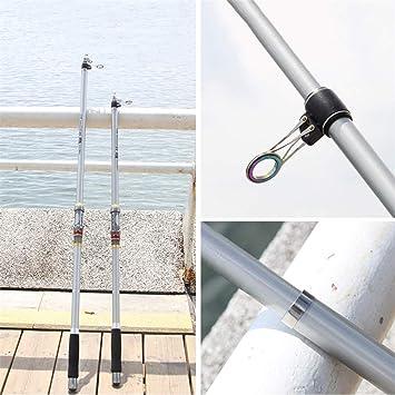 Yuju Cañas de pescar de sección larga - Poste de tiro - Caña ...
