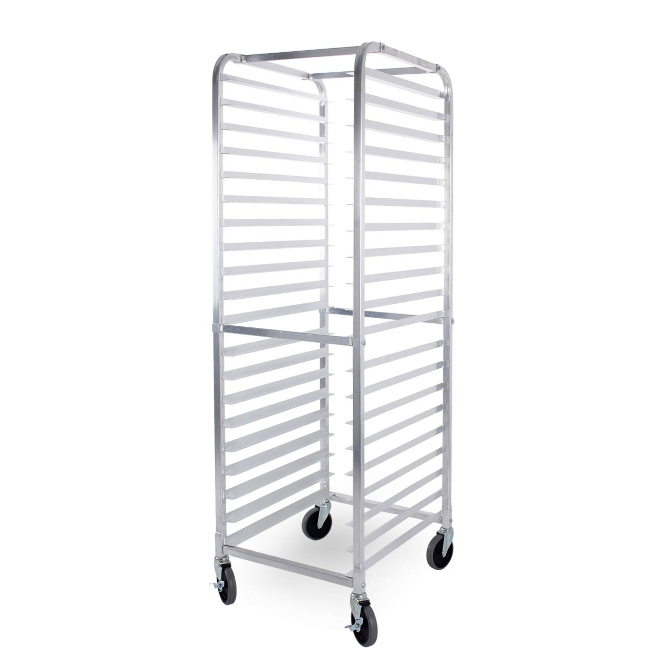 ARKSEN Heavy Duty Welded Aluminum Full Height 20 Tier Sheet/Bun Pan Rack with Caster Wheels by ARKSEN