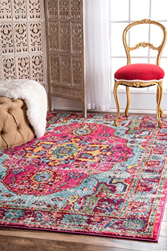 nuLOOM Corbett Vintage Boho Accent Rug, 2' x 3', Multi - Made in Turkey PREMIUM MATERIAL: Crafted of durable synthetic fibers, it has soft texture and is easy to clean SLEEK LOOK: Doesn't obstruct doorways and brings elegance to any space - living-room-soft-furnishings, living-room, area-rugs - 61DGnmPvVGL -